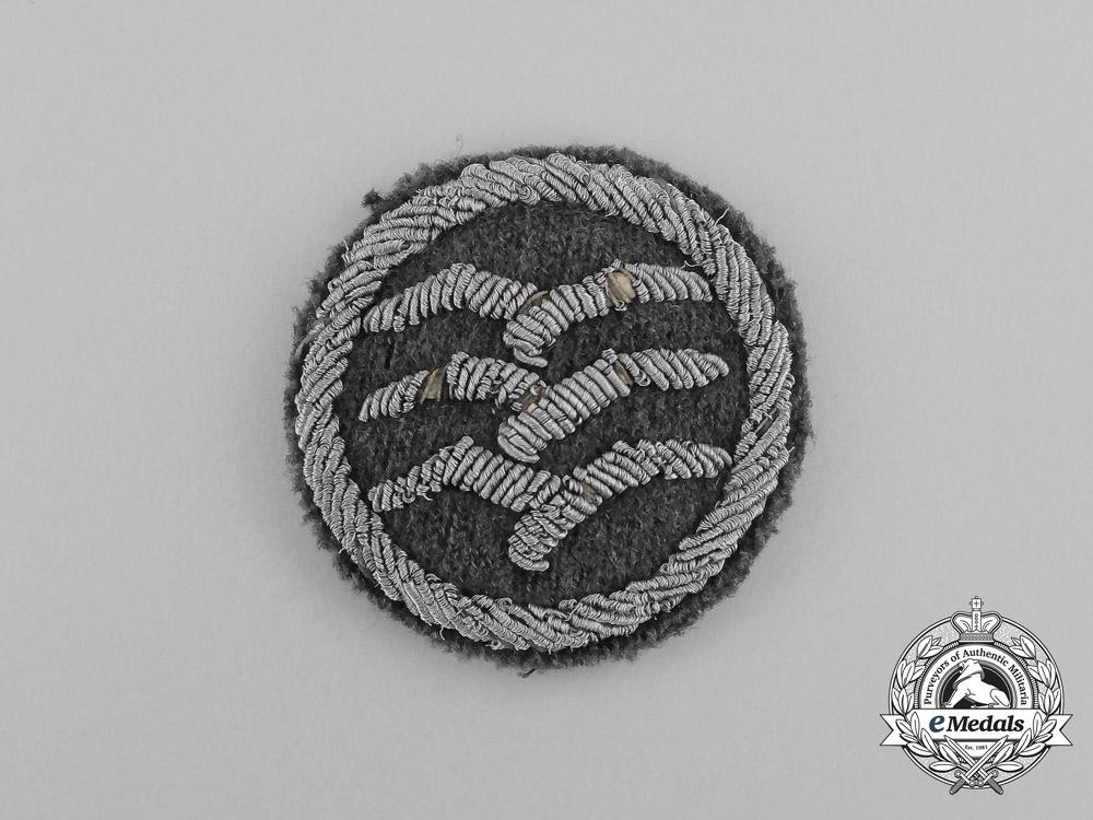 "A German Civil Gliding Proficiency Badge; Class ""C"" Cloth Version"