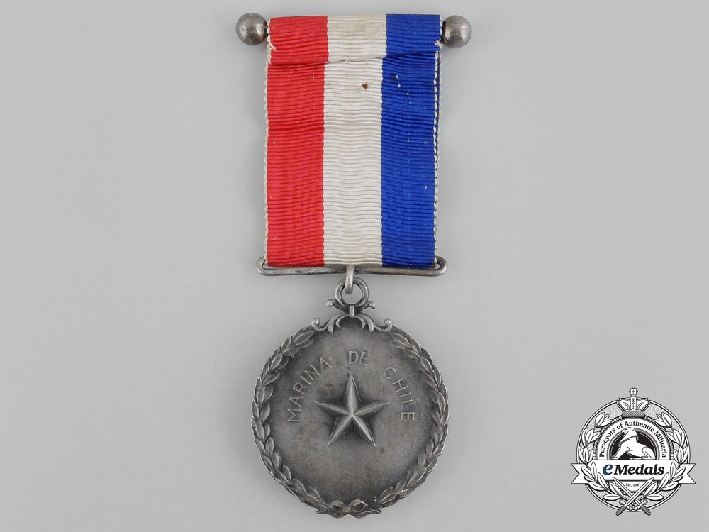 Chile, Republic. A Naval Twenty-Five Year Service Medal