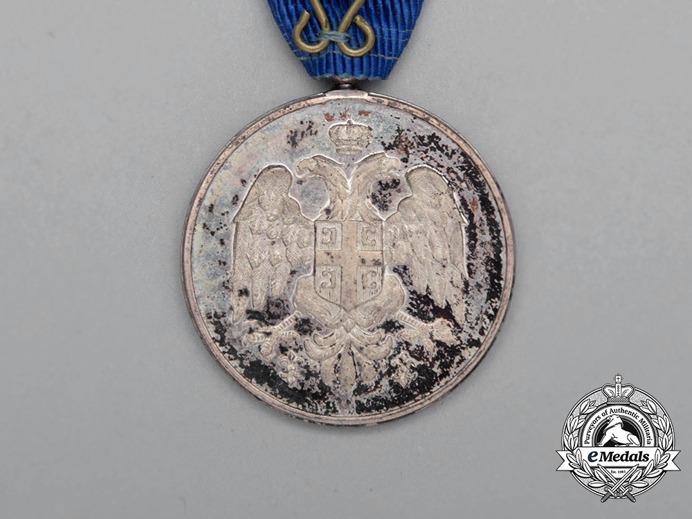 A Serbian Medal for Zeal; Silver Class 1913