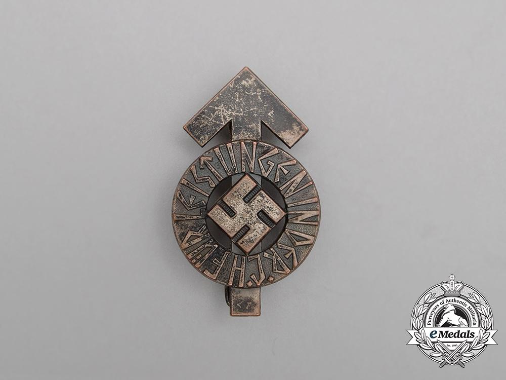 A Silver Grade HJ Proficiency Badge by Wächtler & Lange; Numbered