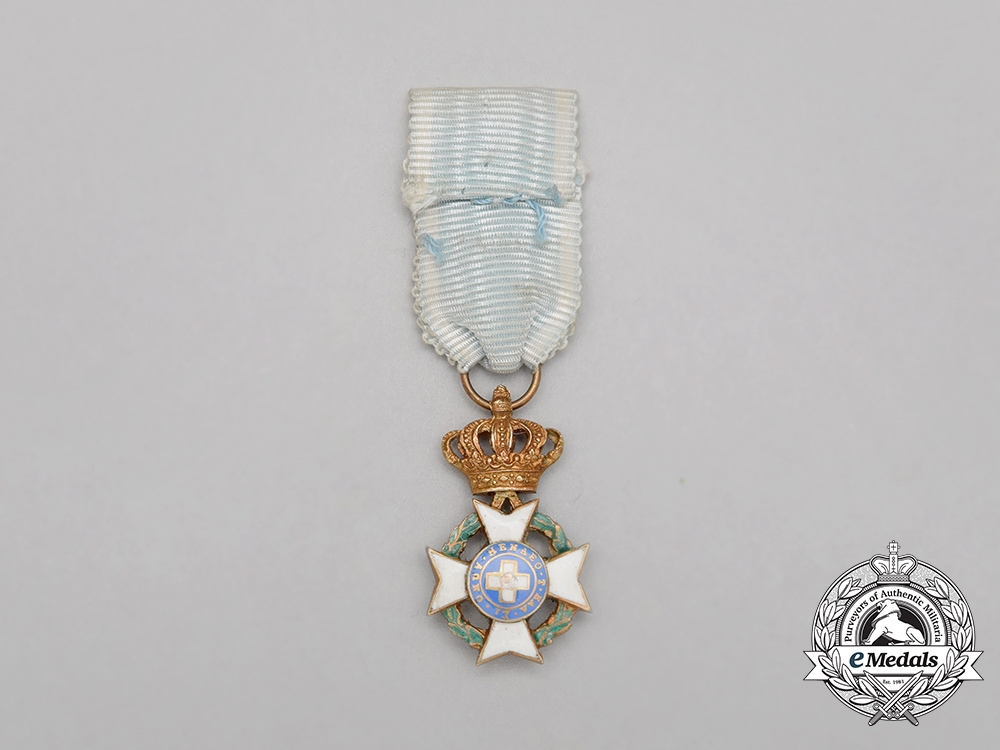A Miniature Greek Order of the Redeemer; Officer's Cross with War Decoration