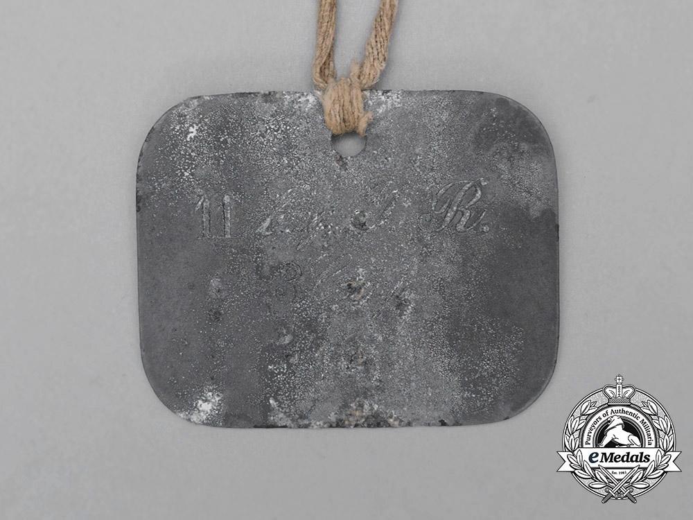 Bavaria, Kingdom. An 11th Infantry Regiment Identification Tag