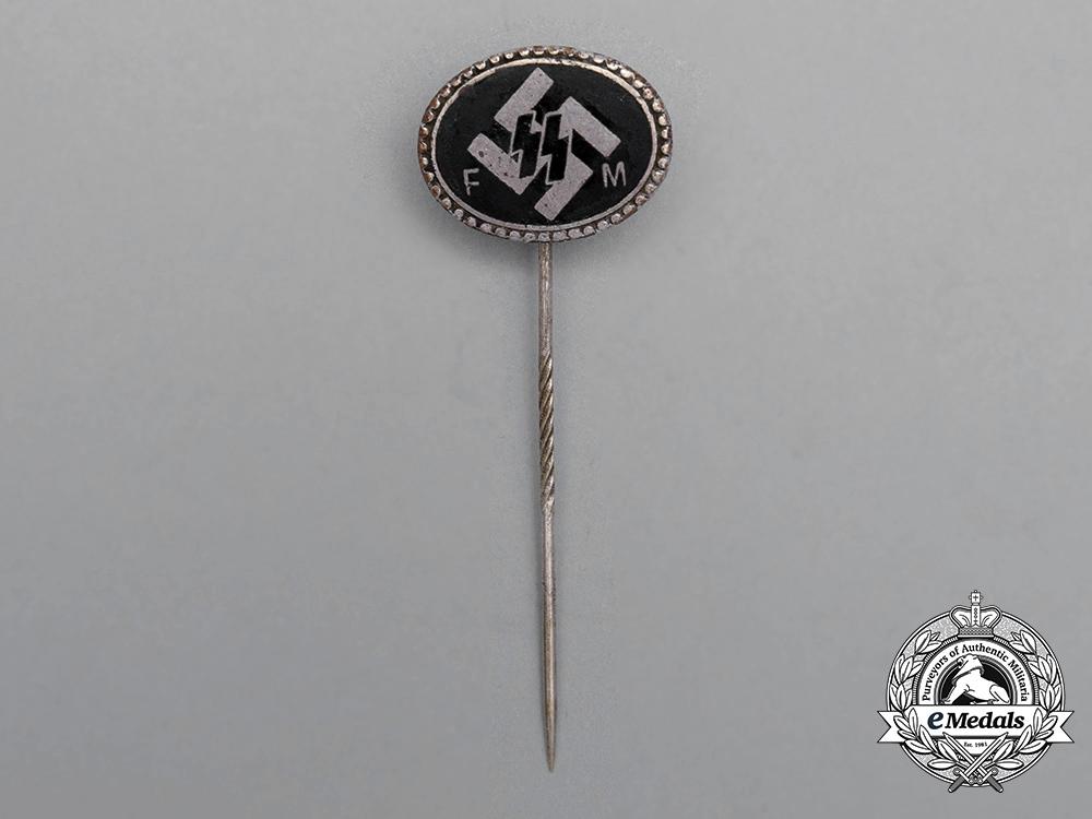 An Early Numbered Waffen-SS Patron Member Lapel Stickpin by Deschler