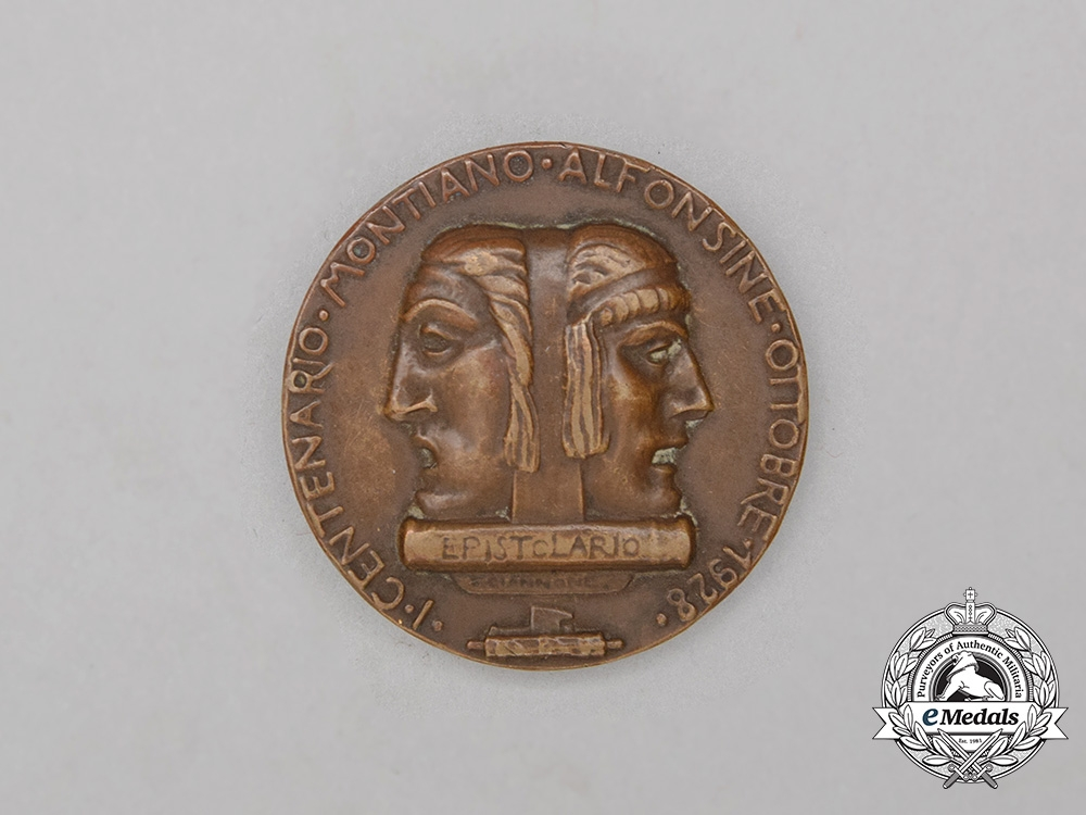 A 100th Anniversary of the Death of the Poet Vincenzo Monti Commemorative Medal 1828-1928