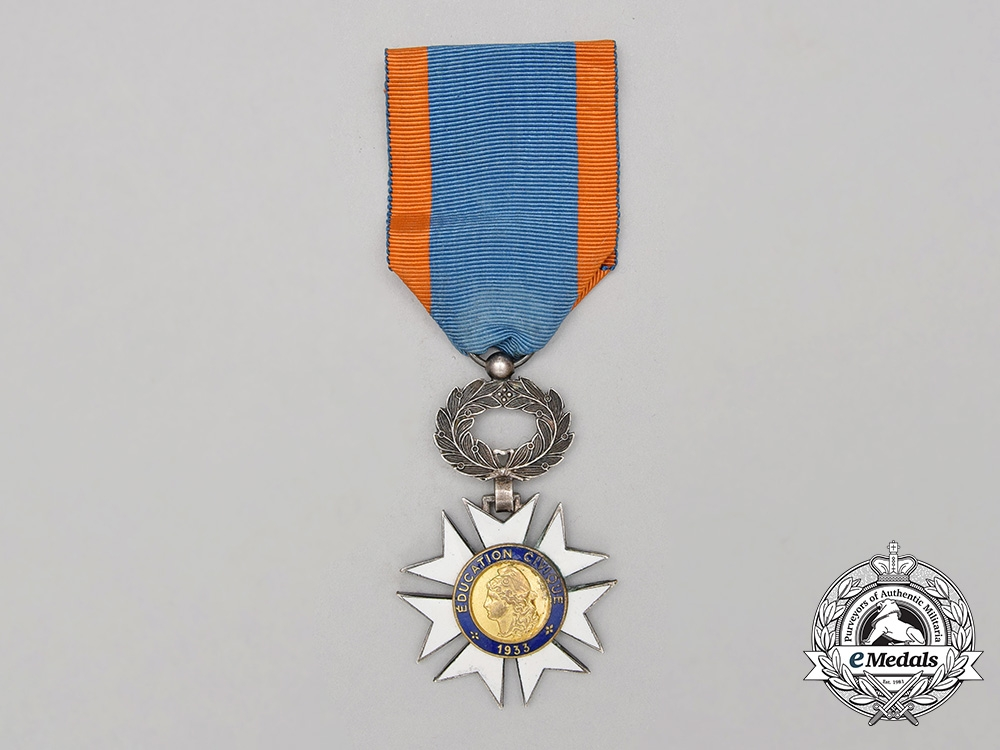 A French Medal for Civil Education