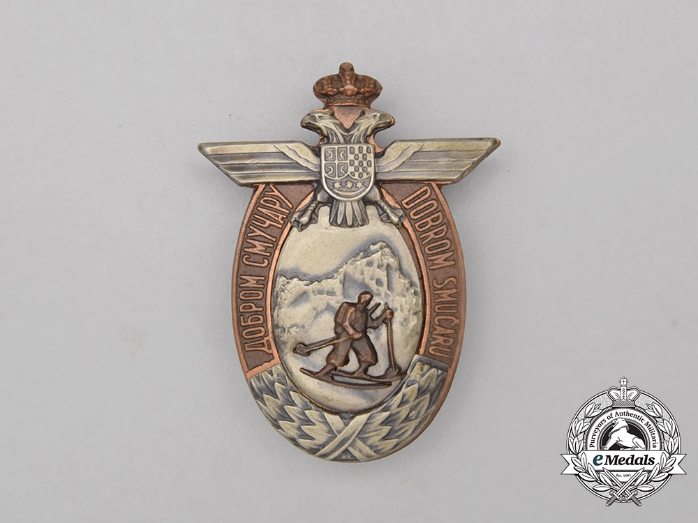 A Kingdom of Yugoslavia Skilled Skiers Badge