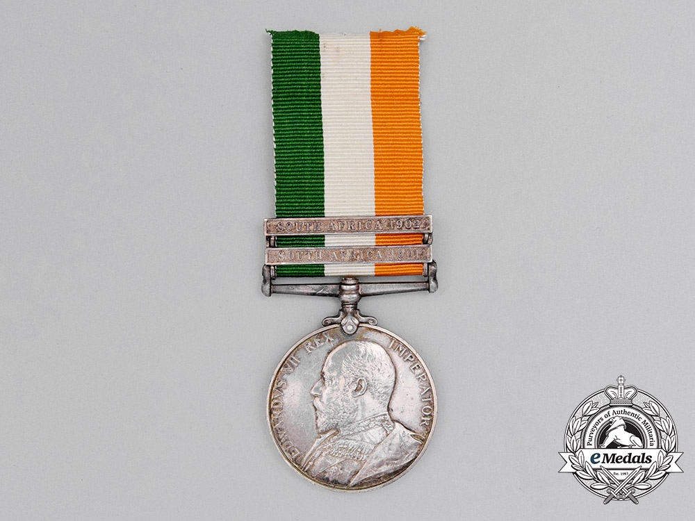 A King's South Africa Medal to the Argyle and Sutherland Highlanders