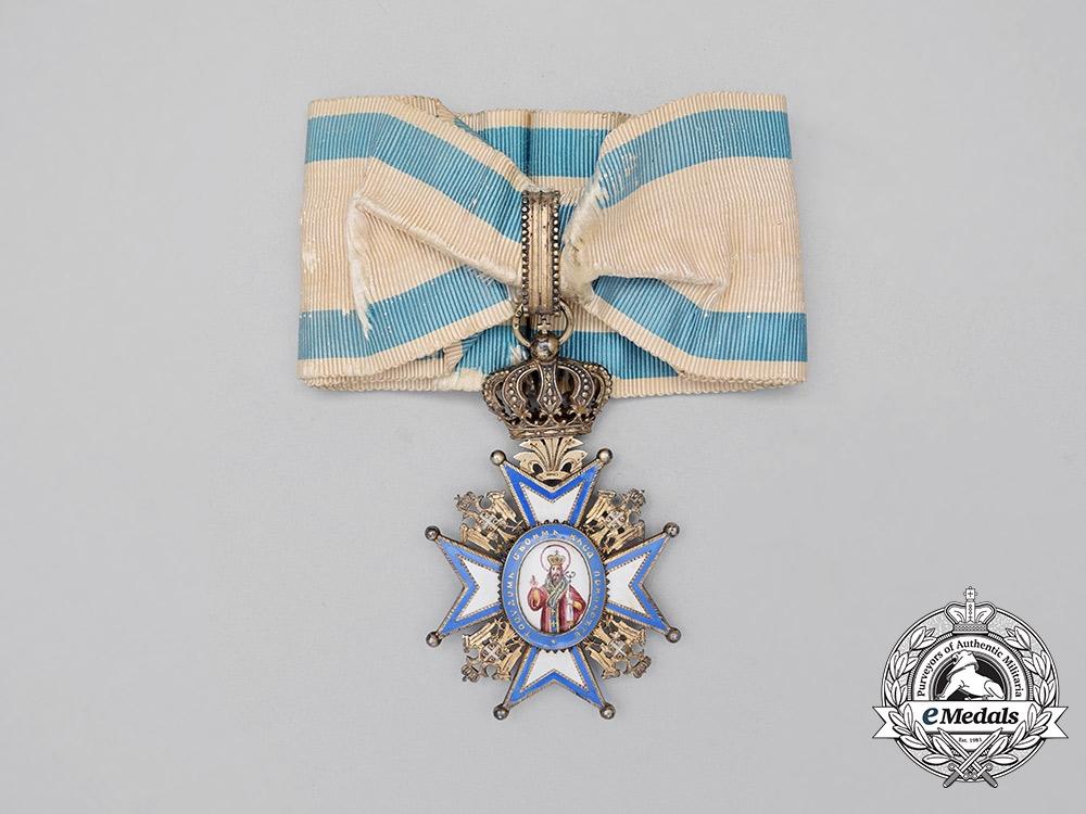 A Serbian Order of St.Sava; 3rd Class Commander, First Model (1882-1903)