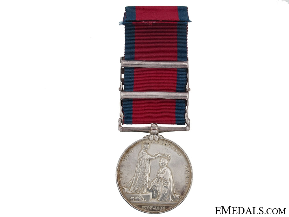 Military General Service Medal, Private Charles Gunter, 1st Line Battalion, King's German Legion