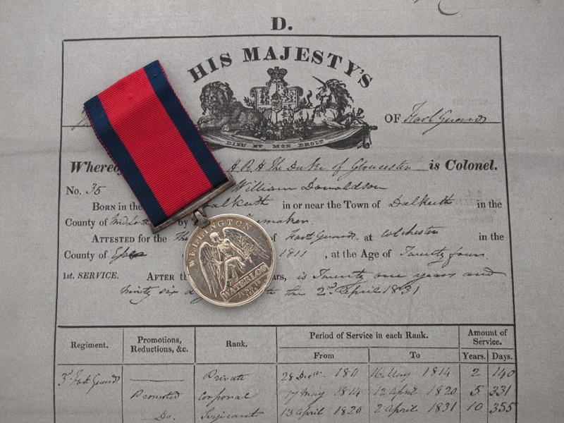 Waterloo Medal 1815 – 3rd REG. GUARDS