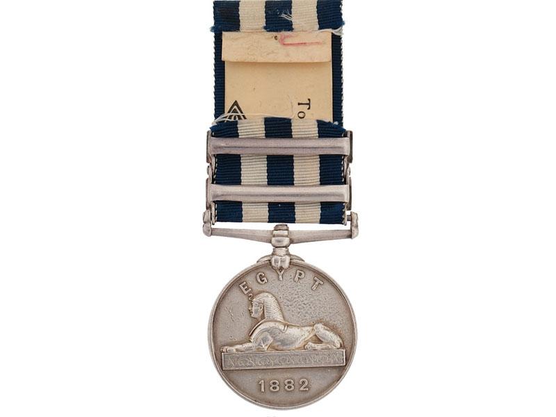 Egypt Medal, 1882-1889
