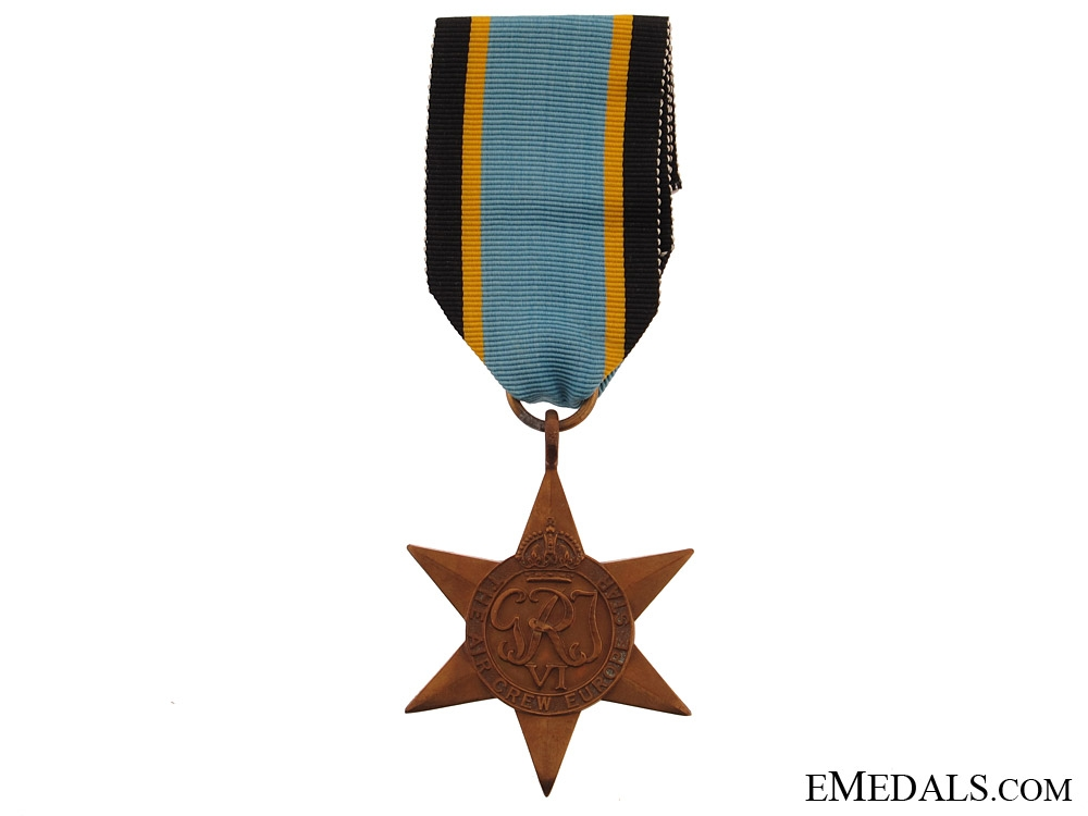WWII Air Crew Europe Star