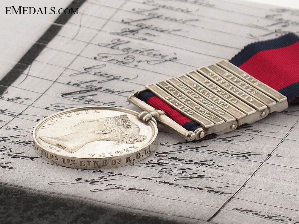 A Superb 8 Clasp M.G.S. to the King's German Legion