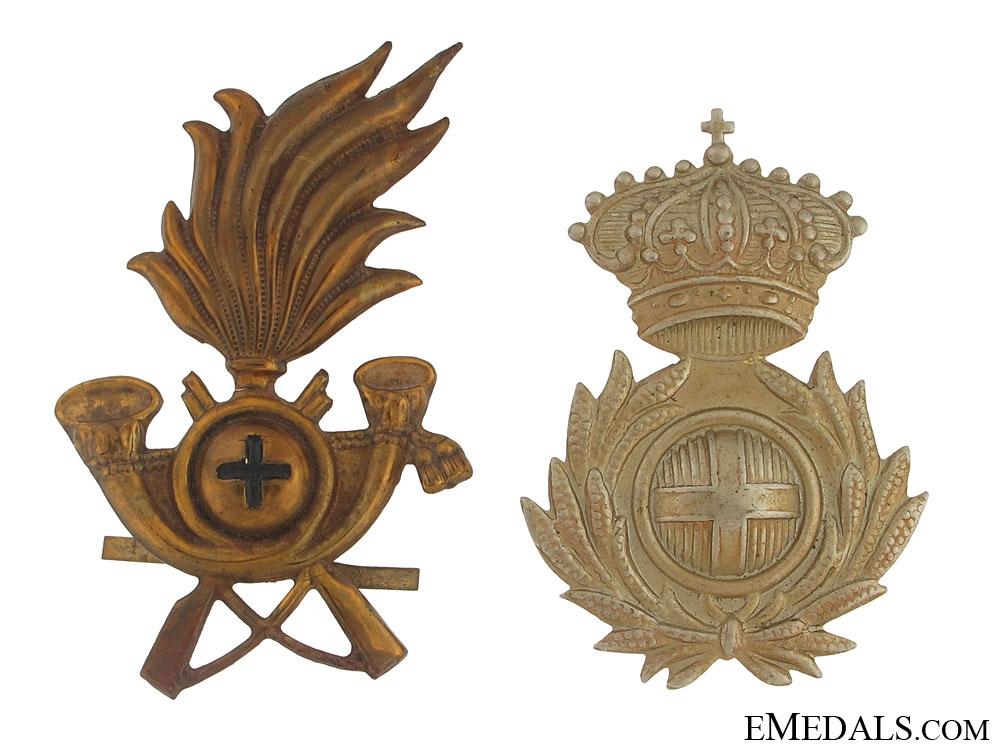 Bersaglieri and Commissariato Badges