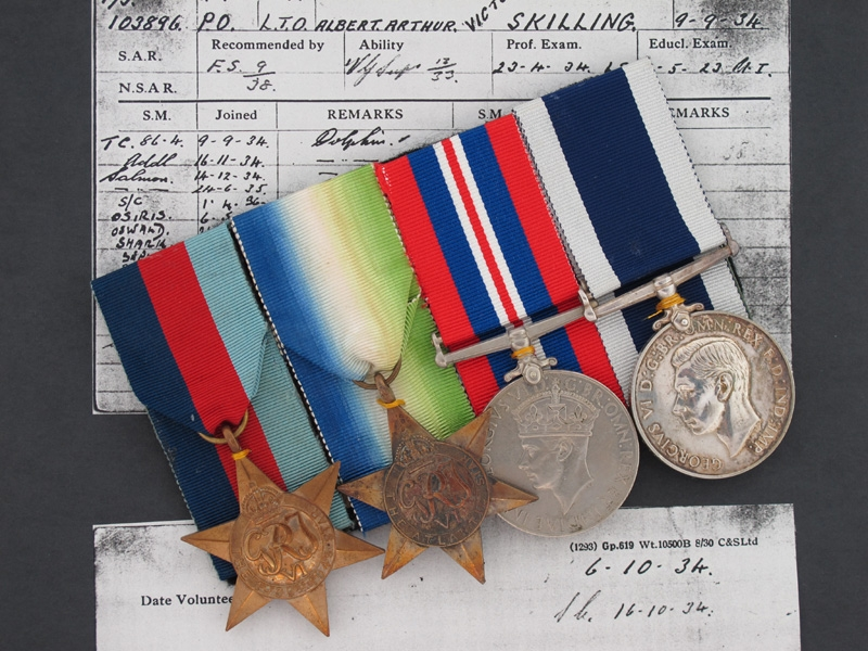 Awards of Submariner A. SKILLING - KIA 1940