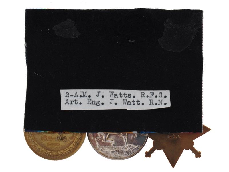 WWI Trio - A.M. J.WATTS - R.F.C. & R.N.
