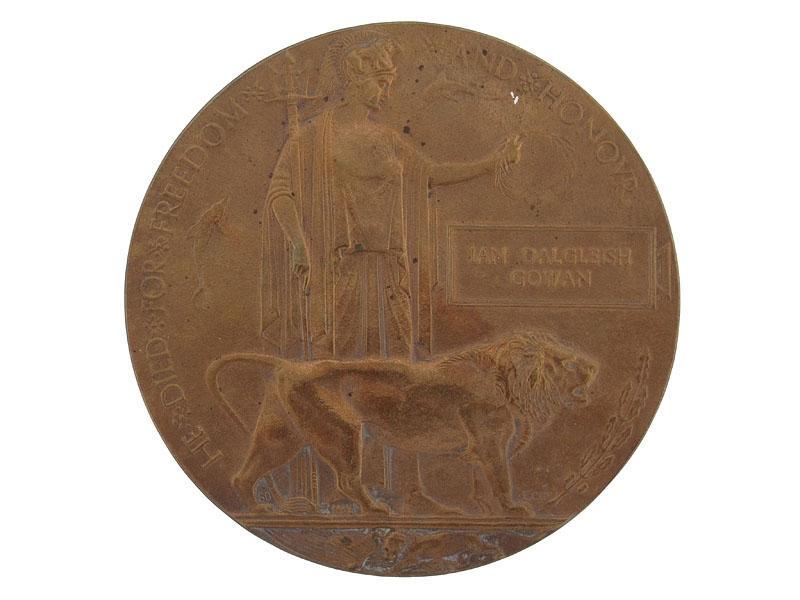 Memorial Plaque - Cpl.Gowan, KIA Vimy Rdige