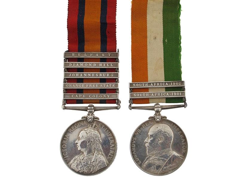 A Rare Boer War Pair to Australian Lieutenant Matthews