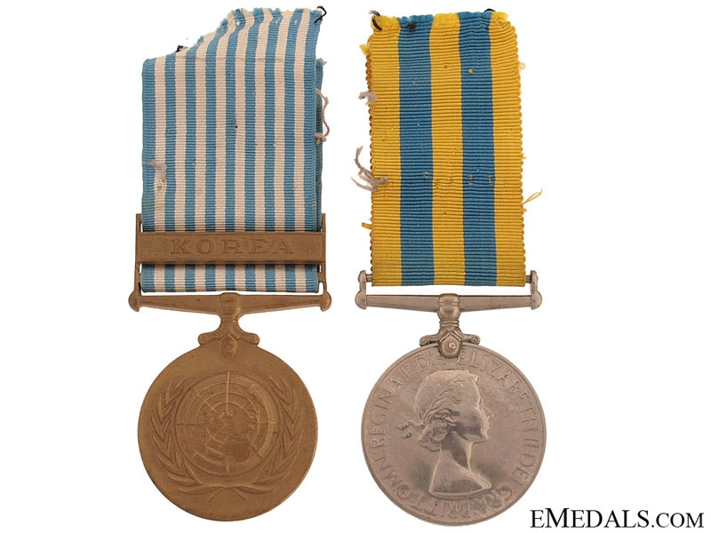 Royal Navy Korean War Pair