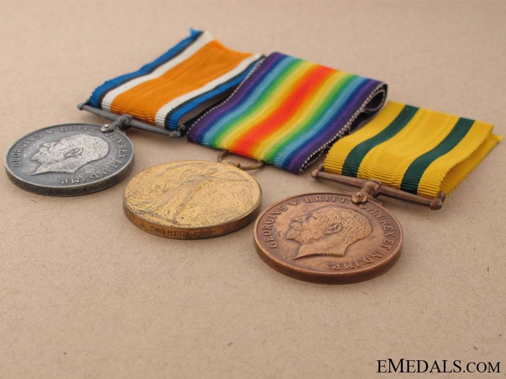 A First War Territorial War Medal Group