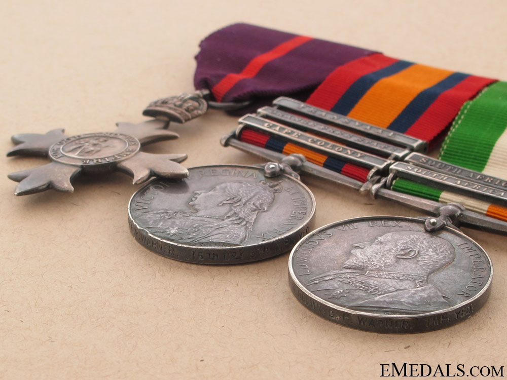 An OBE & South Africa War Trio