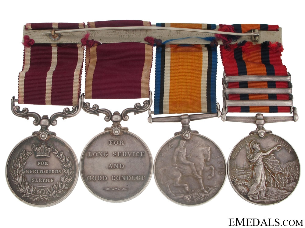 An Attractive M.S.M. Group of Four to the Royal Engineers