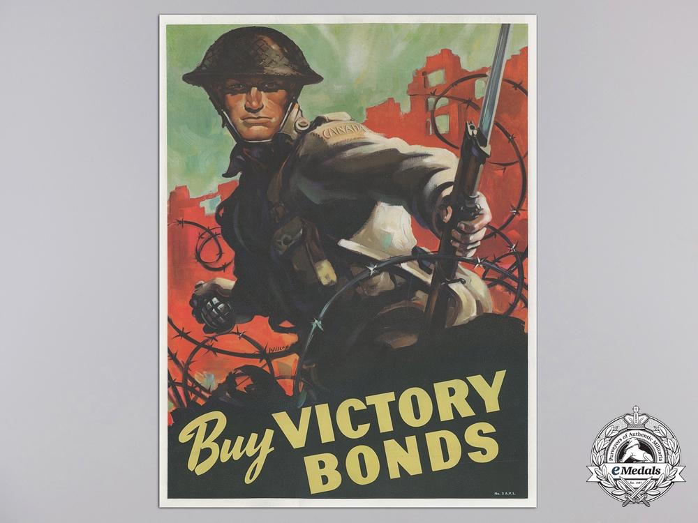 a rare second war canadian buy victory bonds propaganda poster. Black Bedroom Furniture Sets. Home Design Ideas