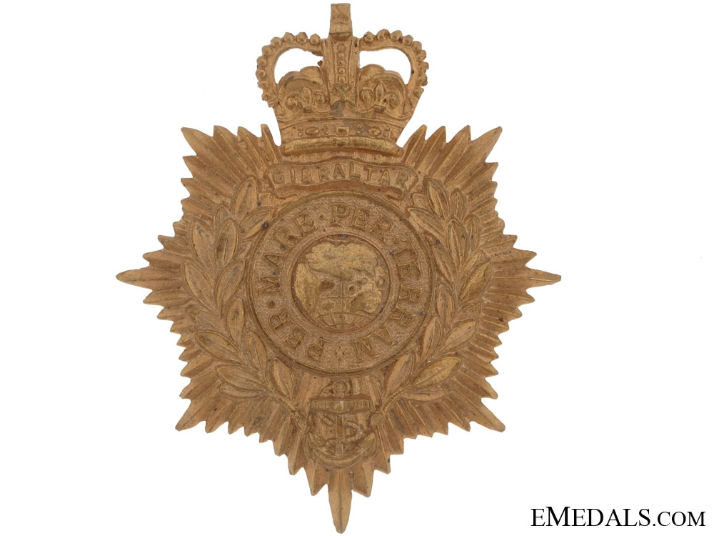 Royal Marine Light Infantry Victorian Helmet Plate