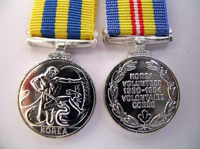 TWO  MINIATURE MEDALS