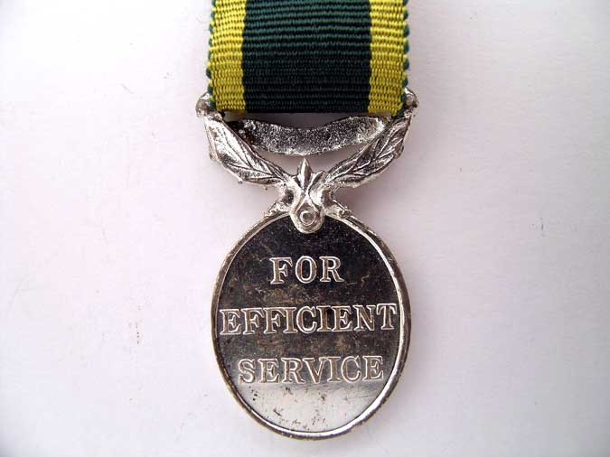 MINIATURE EFFICIENCY MEDAL/CANADA