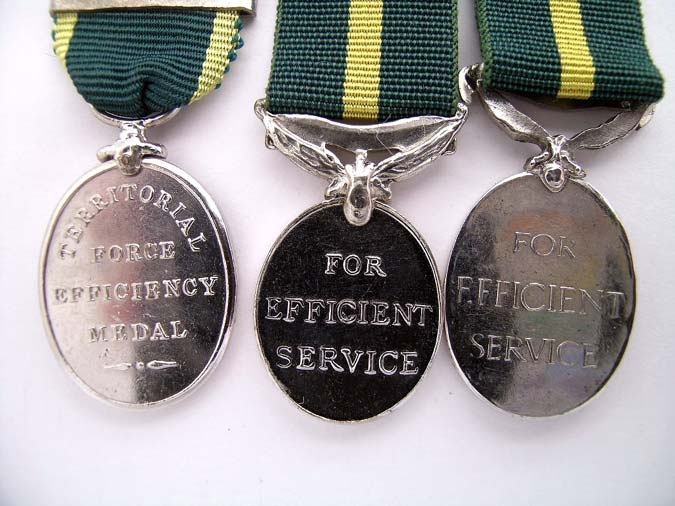 MINIATURE EFFICIENCY MEDALS