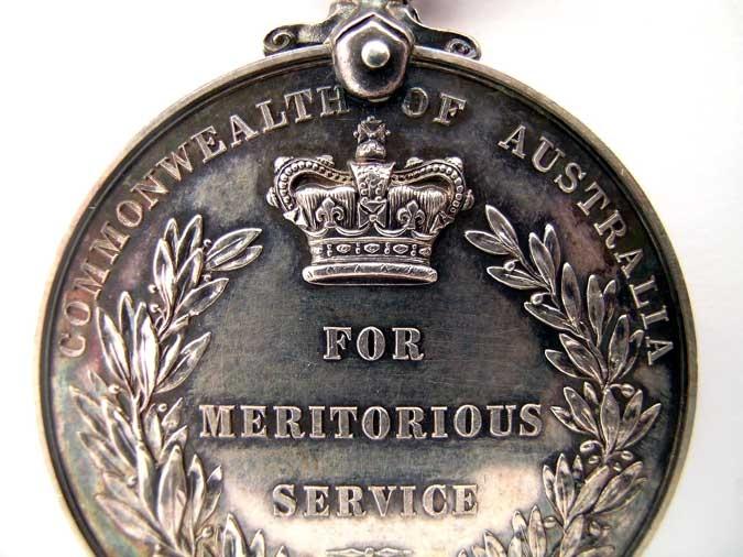 AUSTRALIA, MERITORIOUS SERVICE MEDAL