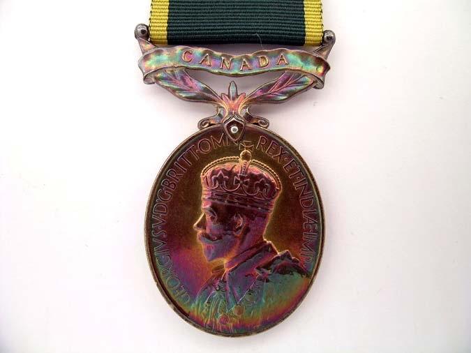 Efficiency Medal Scroll Canada