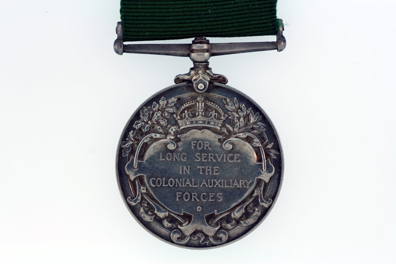 Colonial Auxiliary Forces Long Service Medal,