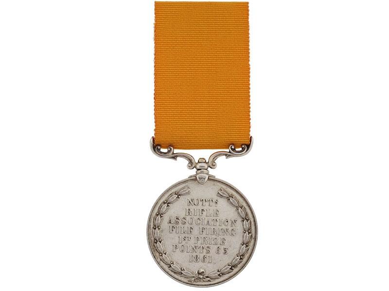 Nottingham Rifle Association 1st Prize Medal, 1861