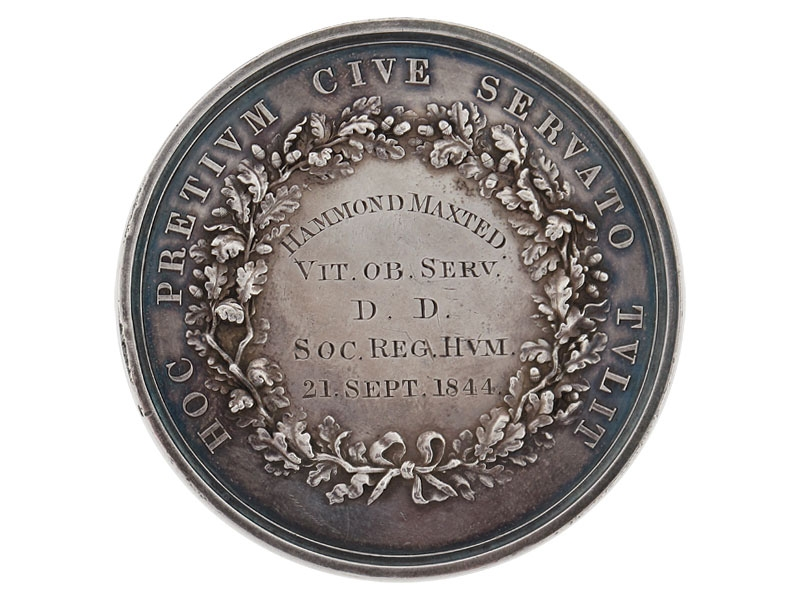 Royal Humane Society Medal, Type 2, 1844