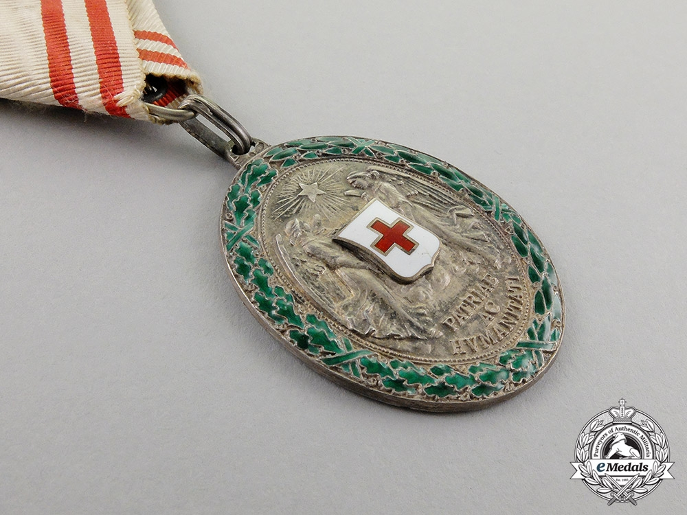 Austria. An Decoration of the Red Cross, Silver Grade with War Decoration
