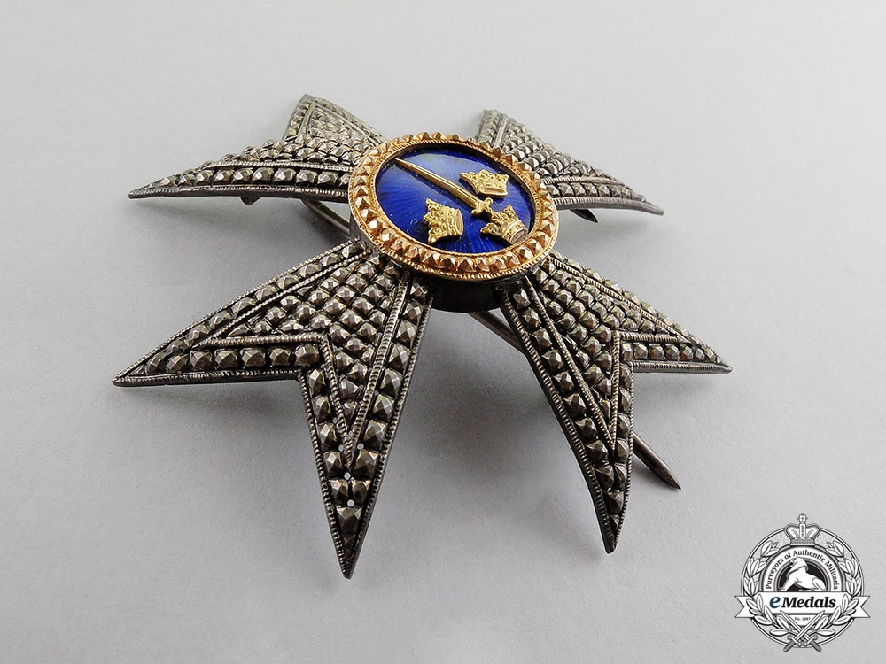 Sweden. An Order of the Sword, Commander Breast Star, Type II, c.1880 by Kretly, Paris