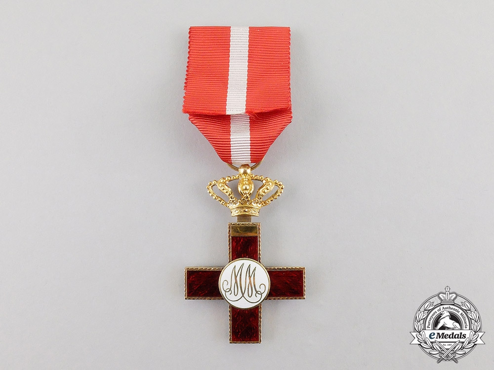 Spain, Kingdom. An Order of Military Merit in Gold, with Red Distinction, c.1900