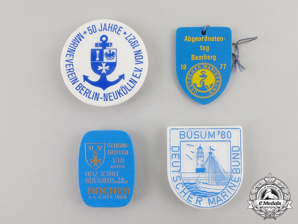 Germany. Four Post War Veteran's Organization Badges