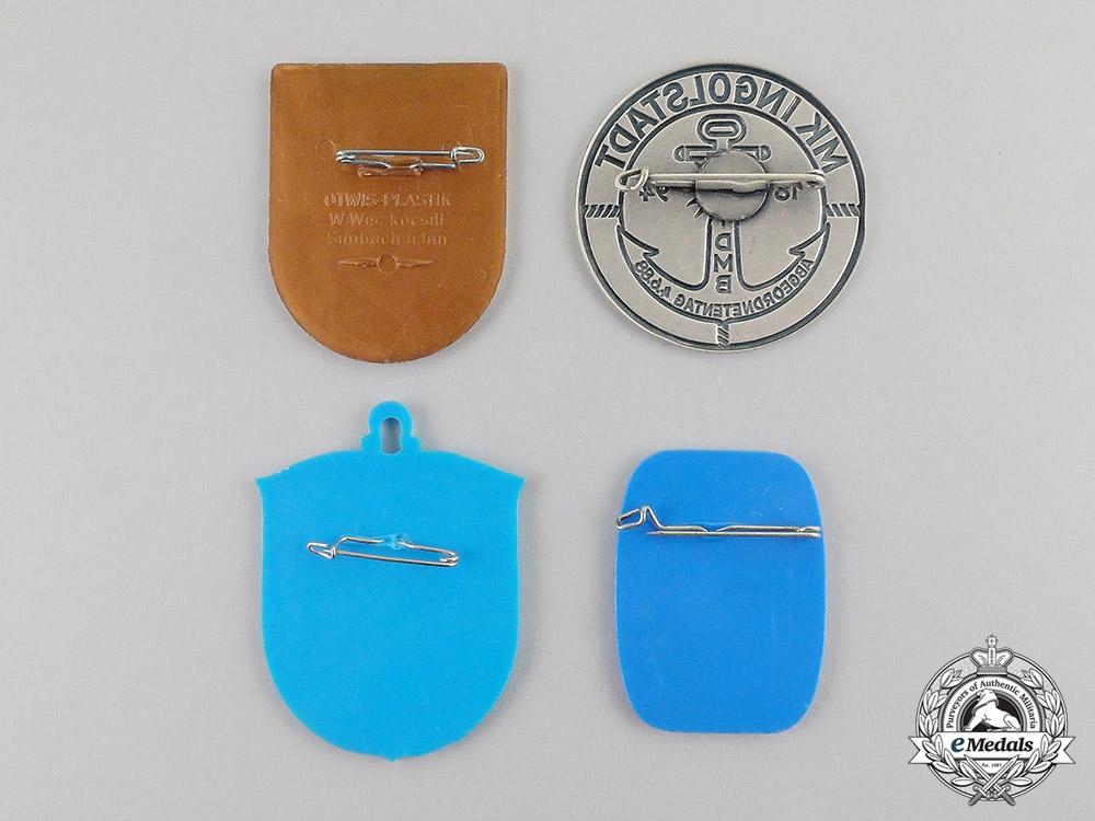 Germany. Four Post War Veteran's Organization Badges
