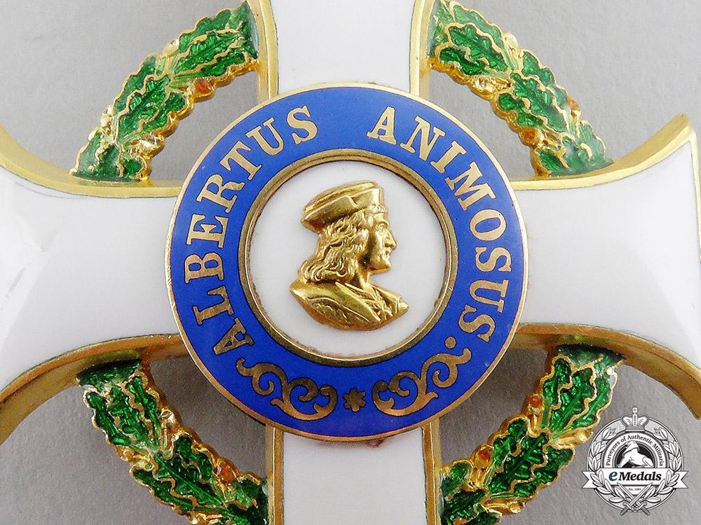 Saxony. An Order of Albrecht in Gold, 1st Class Officer's Cross, c.1900