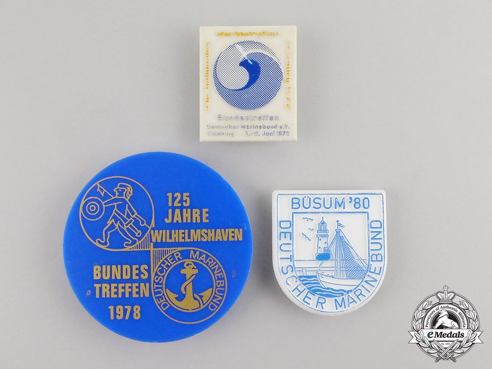 Germany. Three Post War Veteran's Organization Badges