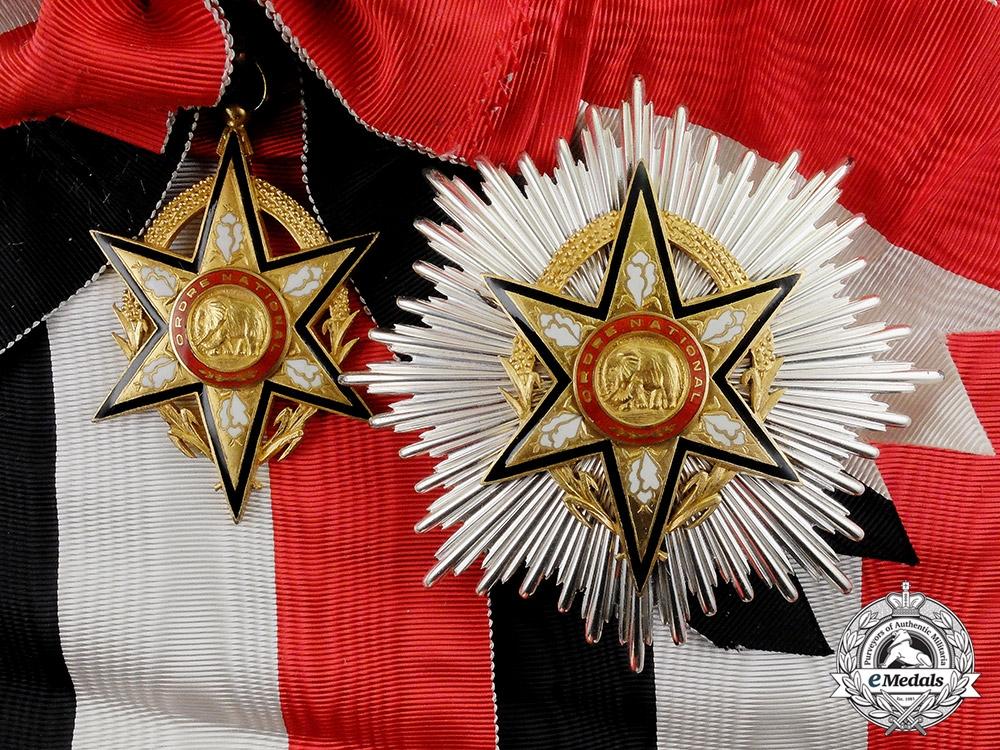 France, Colonial. A Burkina Faso National Order, Grand Cross Set by Arthus Bertrand