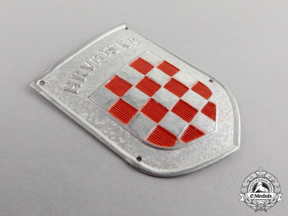 "Germany. A Second War Period ""Hrvatska"" Wehrmacht Volunteer Shield"