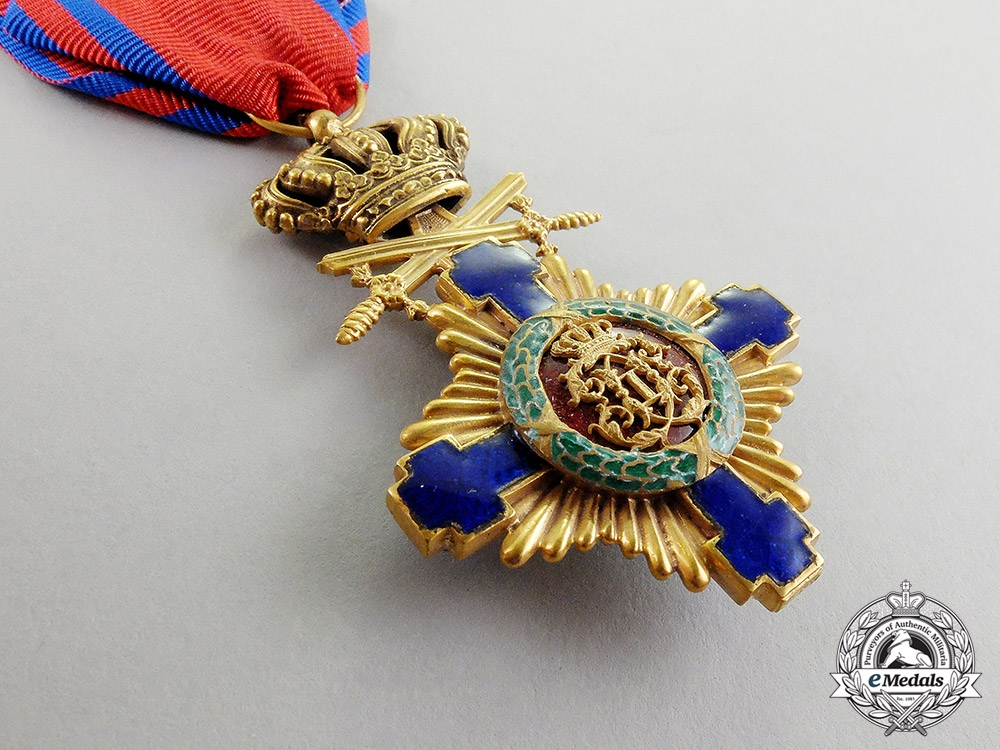 Romania, Kingdom. An Order of the Star, Knight, Military Division, Type I (1877-1932)