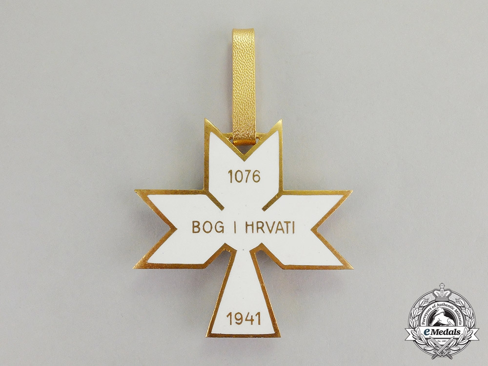Croatia. An Order of King Zvonimir's Crown, 1st Class Commander, by  B. Knaus of Zagreb