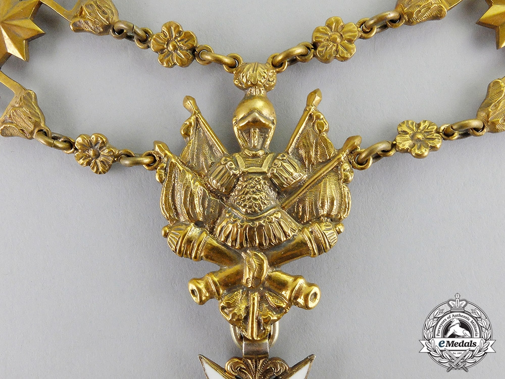 Vatican, City State. An Order of Saint Sylvester & the Golden Militia, Livery Collar, c.1895
