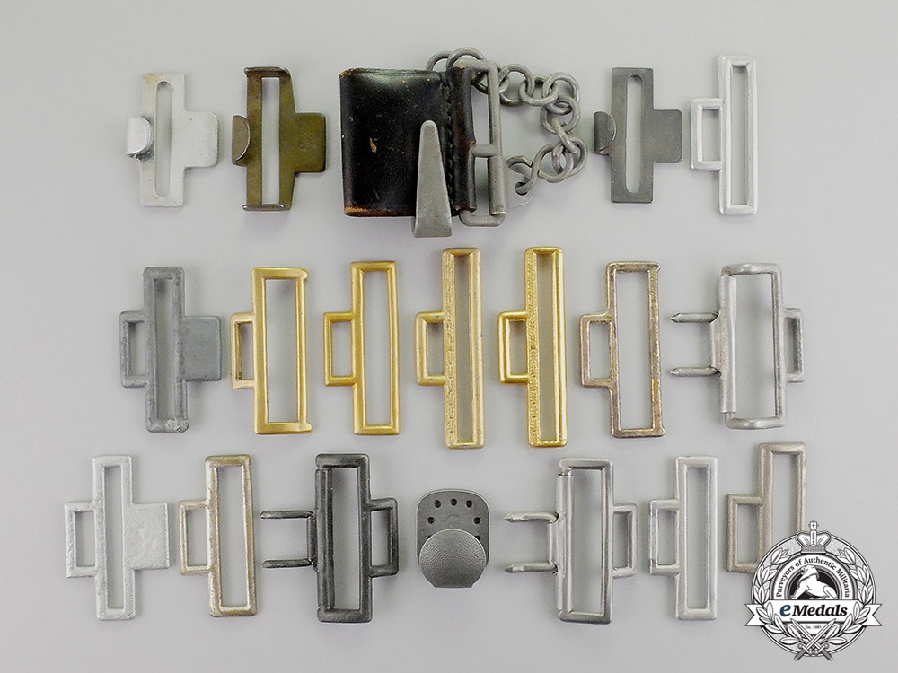 Germany. Nineteen Third Reich Period Belt Buckle Hooks and Clasps