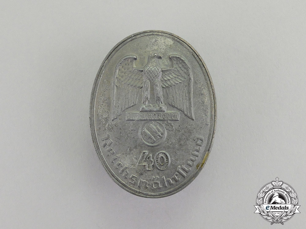 Germany. A Reichsnährstand/Blood & Soil 40-Year Long Service Badge